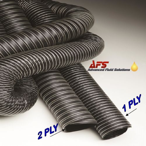 89mm / 90mm I.D 2 Ply Neoprene Black Flexible Hot & Cold Air Ducting